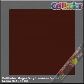 Cellkolor barna magasfényű zománcfesték /RAL 8016/