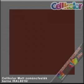 Cellkolor Matt barna zománc festék /RAL8016/