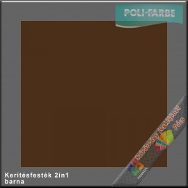Kerítés festék 2in1 barna alapozó és zománcfesték
