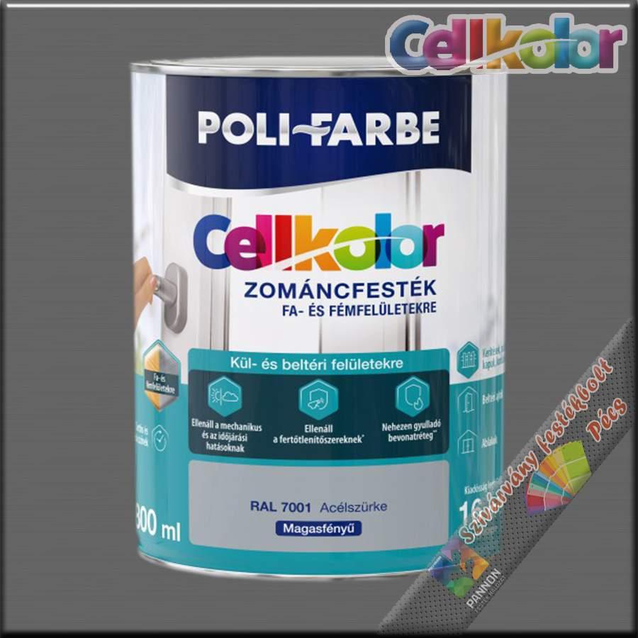 Cellkolor MF. acélszürke zománcfesték /RAL 7001/