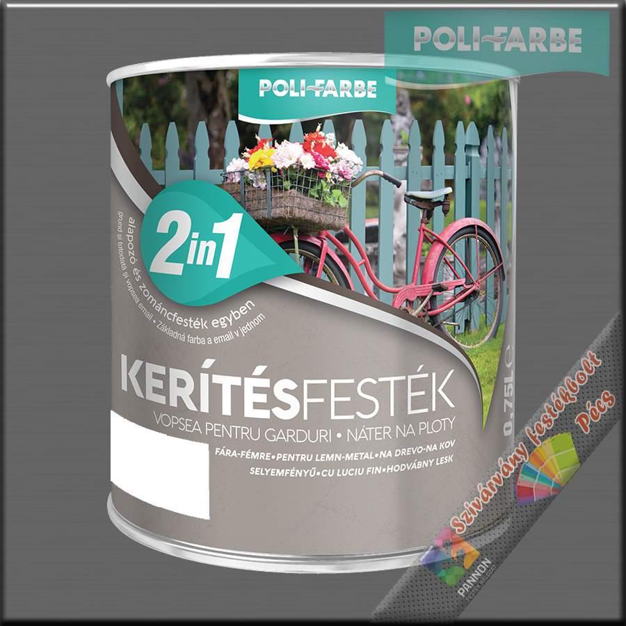 Kerítés festék 2in1 fehér alapozó és zománcfesték