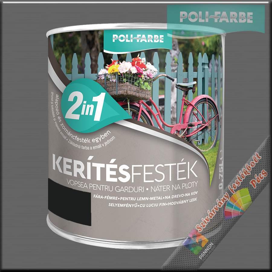 Kerítés festék 2in1 fekete alapozó és zománcfesték