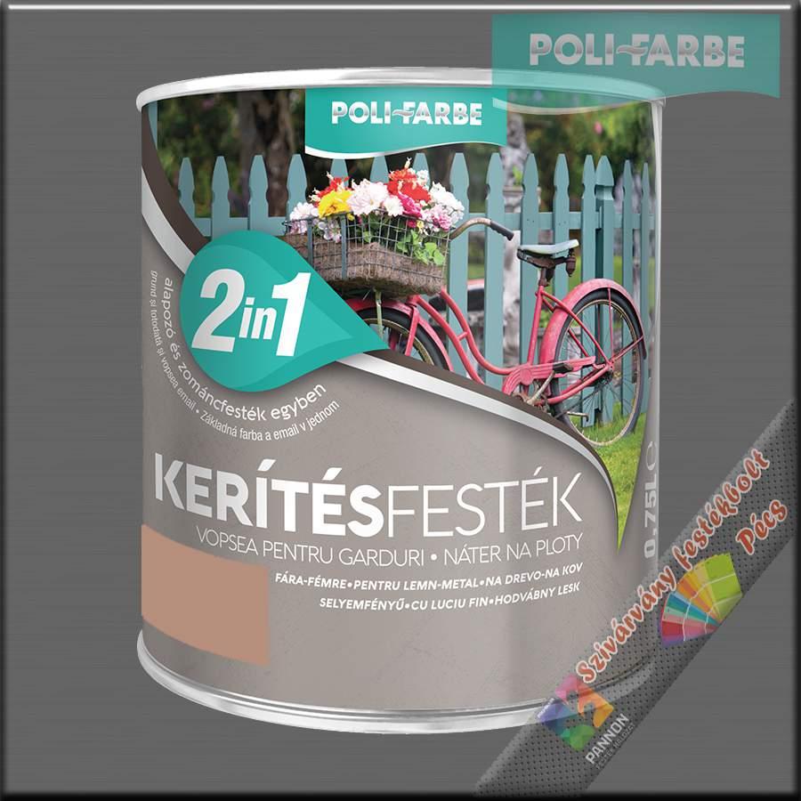 Kerítés festék 2in1 kávé alapozó és zománcfesték
