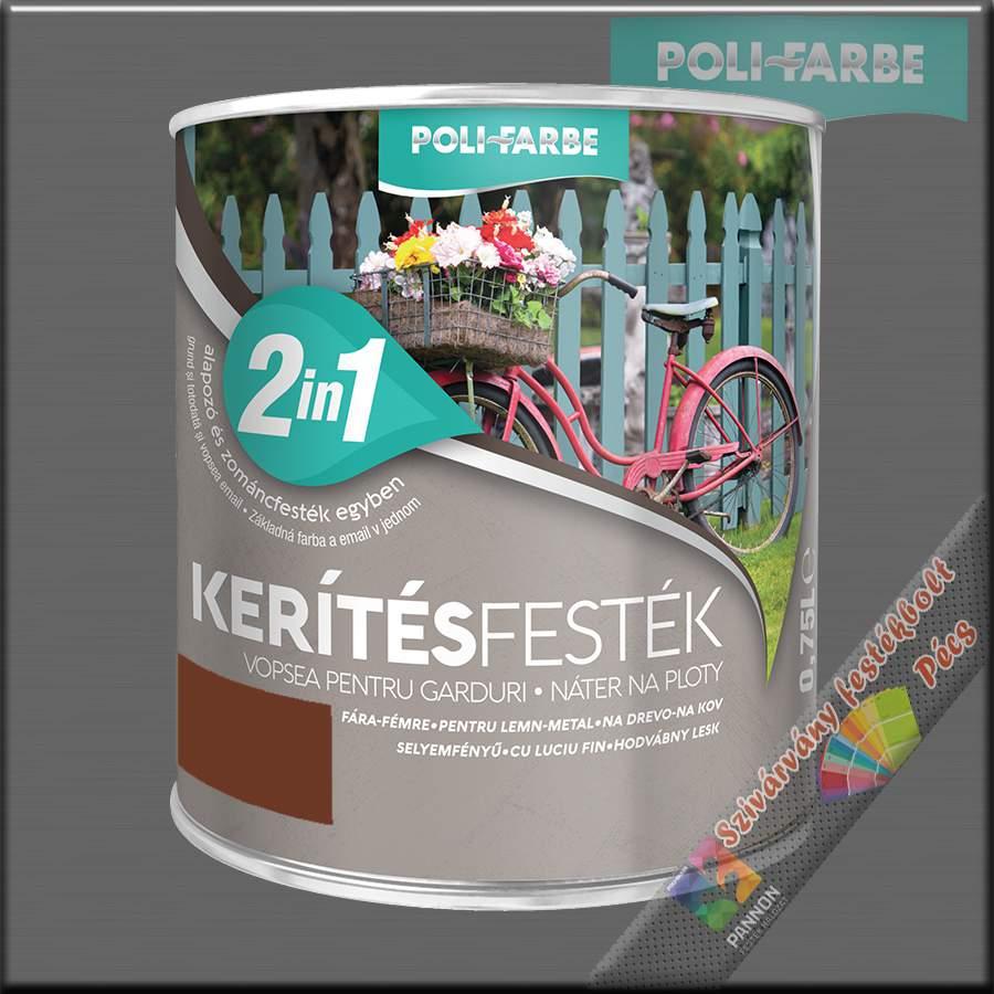 Kerítés festék 2in1 világosbarna alapozó és zománcfesték